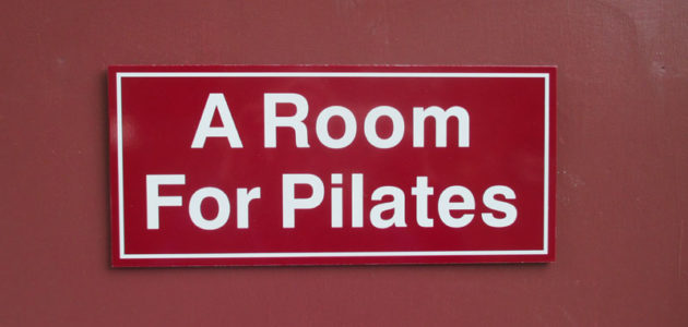 """You will see the sign on the door to the right clearly marked """"A Room For Pilates"""""""