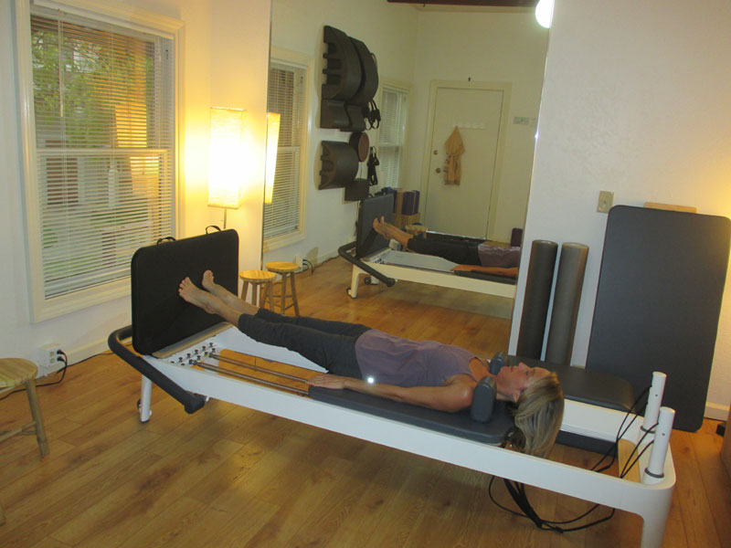 The Heel, The Ball And The Toe Of The Feet Push Off From The Pilates  Reformer Jump Board